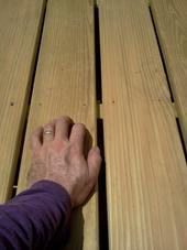 Pressure treated pine - the most commonly used decking material in the US. A-Affordable Decks in Lombard IL.