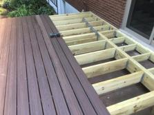 Trex Transcend decking going down in Wheaton Illinois
