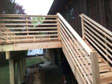 Horizontal railing - A-Affordable Decks in Lombard IL 2017