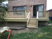 Elmhurst deck contractor treated deck 2016 A-Affordable Decks