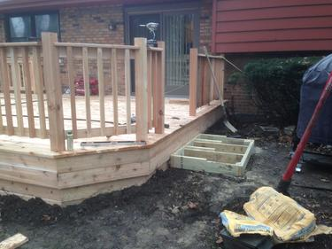 Railings and steps on deck in Darien IL