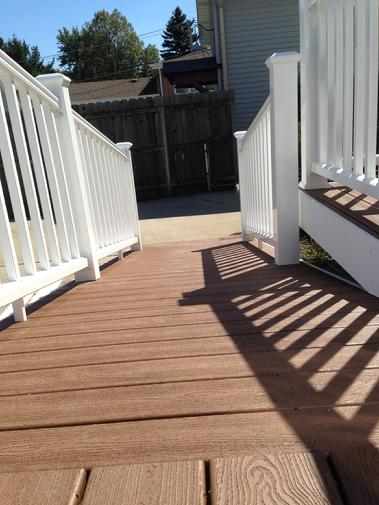 Trex Transcend. Villa Park IL Great planking material! A-Affordable Decks. Authorized Trex Pro installer. Lombard IL