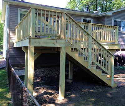 2013 Woodridge IL deck by A-Affordable Decks of Lombard