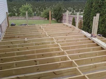 deck frame ready for inspection a affordable decks in lombard illinois builds quality decks