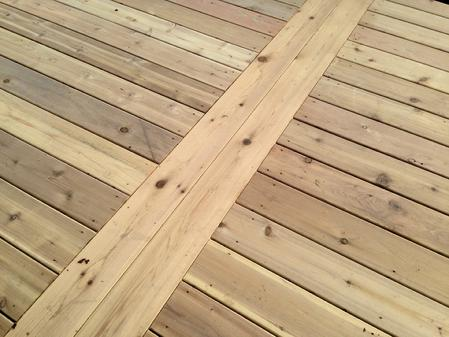 An A-Affordable Decks signature decking pattern