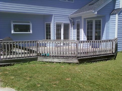 Problem riddled wood deck in Western Springs IL. For free in home estimate contact A-Affordable Decks 630-620-4130