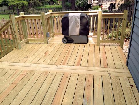 Downers Grove, Illinois. Treated deck by DuPage Decks.com