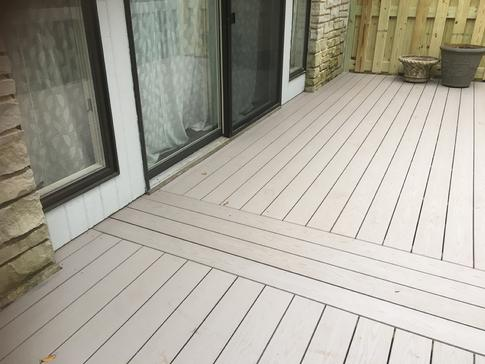 Burr Ridge deck 2016. Azek pvc replaces the former wood planking. A-Affordable Decks