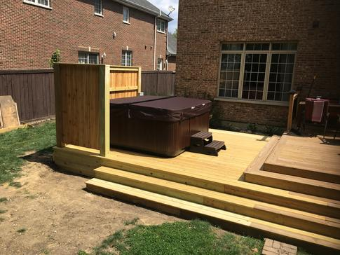 Westmont IL - deck contractor A-Affordable Decks 2017 hot tub deck