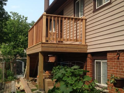 Downers Grove deck 2015 by deck contractor A Affordable Decks