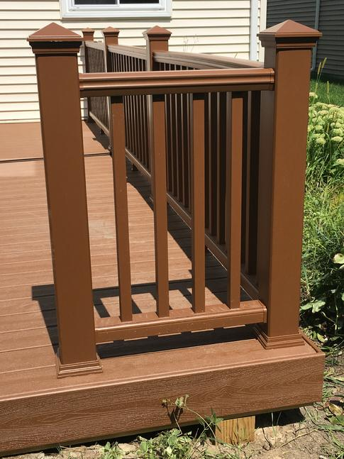 "Trex composite railing. ""I think its among the best!"" - Frank Lamphere"