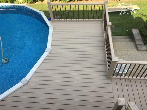 2017 West Chicago pool deck - A-Affordable Decks deck contractor in Lombard