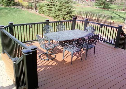 Timbertech composite deck Burr Ridge Illinois. Built by Lombard based A-Affordable Decks