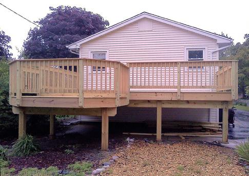 Naperville deck built by A-Affordable Decks